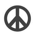 hippie peace symbol icon vector image
