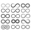 infinity symbols endless loop shape unlimited vector image