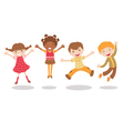 Jumping kids vector image vector image