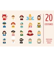 kids wearing different costumes vector image vector image