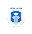 legal service logo template design law firm vector image vector image