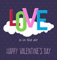love word background happy valentine greetings vector image vector image