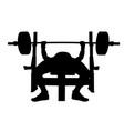 male athlete bench press