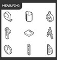measuring outline isometric icons vector image