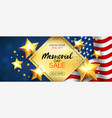 memorial day sale promotion advertising horizontal vector image