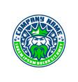 modern poseidon logo emblem king logo vector image vector image