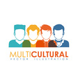 multicultural vector image