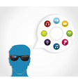 Multimedia smart glasses technology vector image