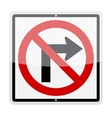 No Right Turn Sign vector image vector image
