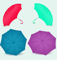 Opened umbrella different colors in vector image vector image