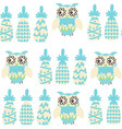 owls and pineapples fantasy colorful seamless vector image vector image