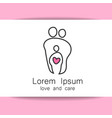 parent love logo vector image vector image