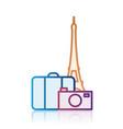 paris tourism destination icon vector image
