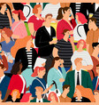 people crowd seamless pattern vector image vector image