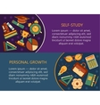 Personal growth creative vector image vector image