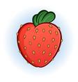 plump juicy strawberry cartoon vector image vector image
