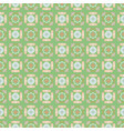 portuguese style ceramic tile green seamless vector image vector image