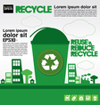 Recycle concept EPS10 vector image vector image