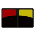 red and yellow cards vector image