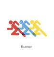 runners of different color flat style logo icon vector image vector image