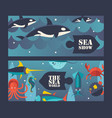 sea and ocean underwater world vector image