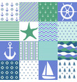 sea seamless patterns nautical design vector image vector image