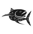 sea tuna fish icon simple style vector image