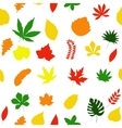 Seamless floral pattern autumn leaves texture vector image vector image