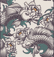 seamless pattern on japanese theme vector image vector image