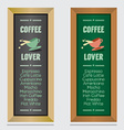 Set Of Isolated Coffee Menu Board vector image