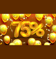 seventy five percent or 75 special offer vector image vector image