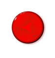 shiny circle red button for holiday and for vector image vector image