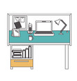 Silhouette color sections of workplace home office