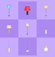 stylish and modern interior light appliances set vector image vector image