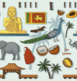 symbols of sri lanka icons pattern vector image