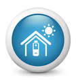 Temperature Control glossy icon vector image vector image