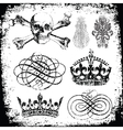 Various distressed ornaments vector image
