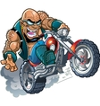 wild bald biker dude vector image