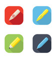 writing tools icon vector image vector image