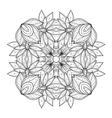 Beautiful Deco Monochrome Contour Square vector image