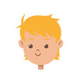 cartoon character face boy children vector image