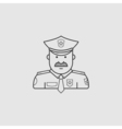 icon police in black uniforms with police badge vector image