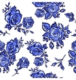 pattern blue rose vector image