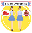 you are what you eat poster vector image