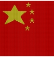Knitted flag of China vector image