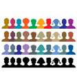 silhouettes of crowd vector image