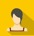 girl avatar icon flat vector image