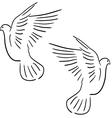 peace dove set vector image