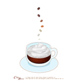 A Cup of Cafe Breve with Whipped Cream vector image vector image