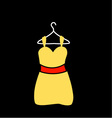 A yellow dress on a hanger vector image